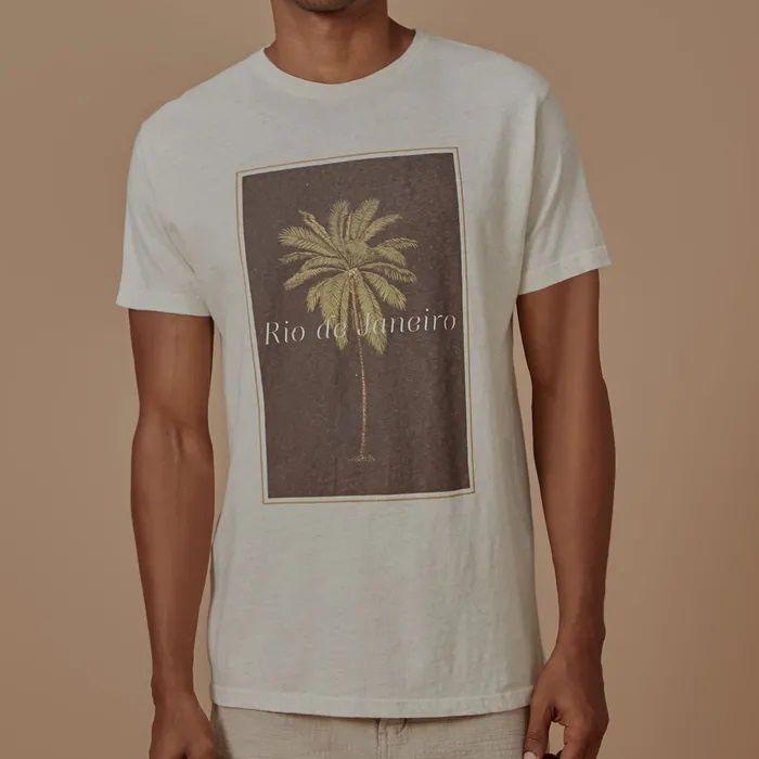 T-shirt Foxton Palmeira Rio - Bege