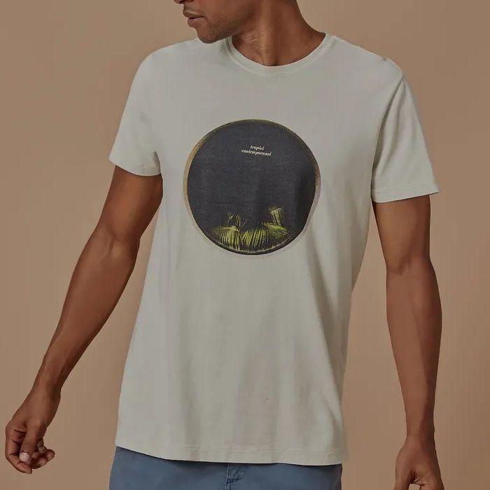 T-shirt Foxton Tropic Contemporanei - Bege