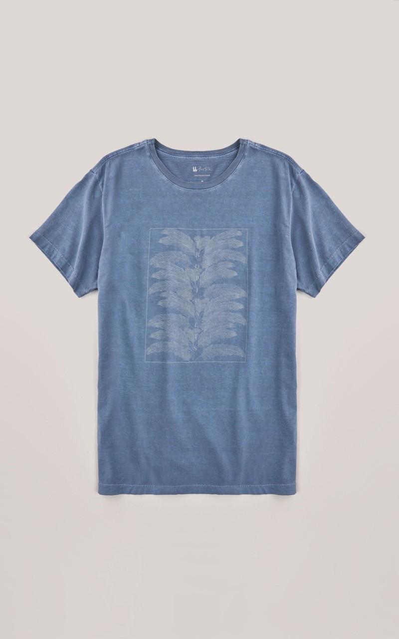 T-shirt Foxton Tropical Is - Azul Lavado