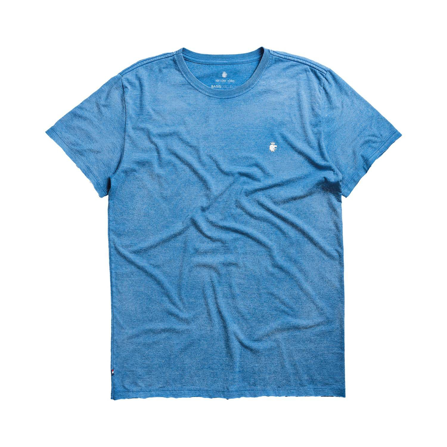 T-shirt Von Der Volke Basis Devore - Azul Royal