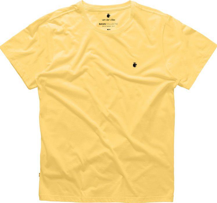 T-shirt Von Der Volke Basis Round - Amarela