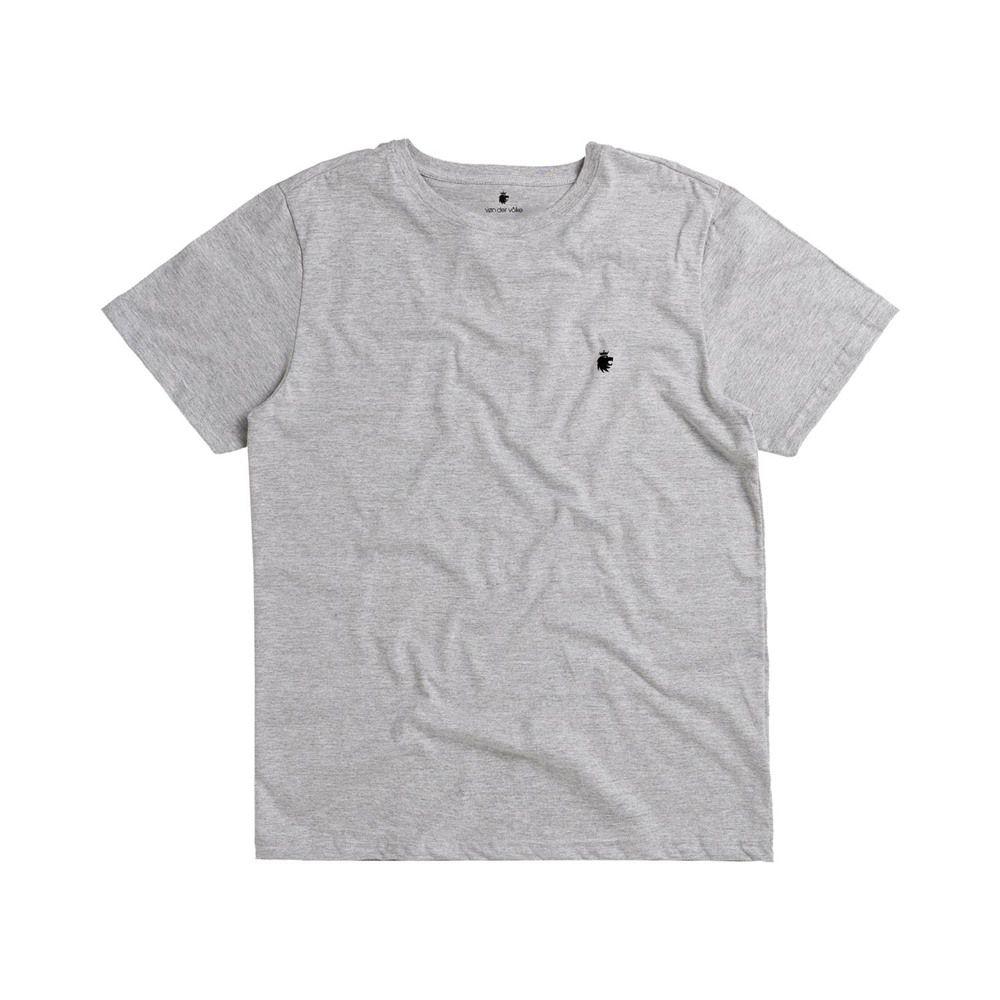 T-shirt Von Der Volke Basis Round - Cinza Mescla