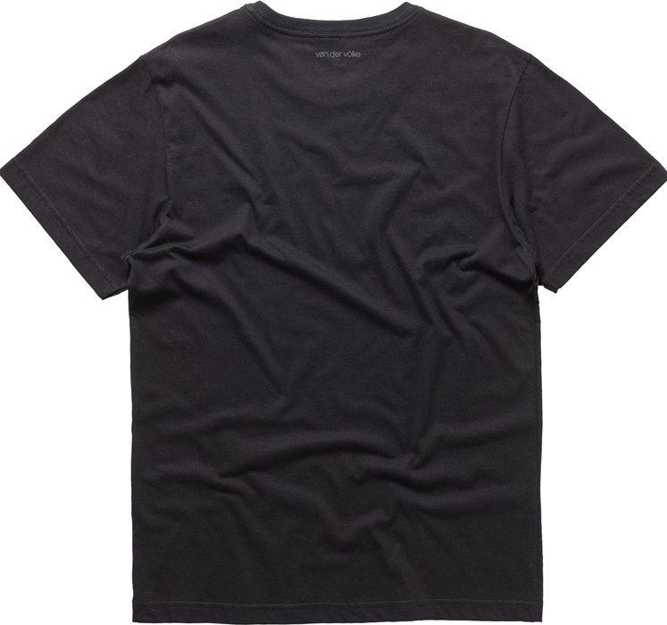 T-shirt Von Der Volke Basis Round - Preta