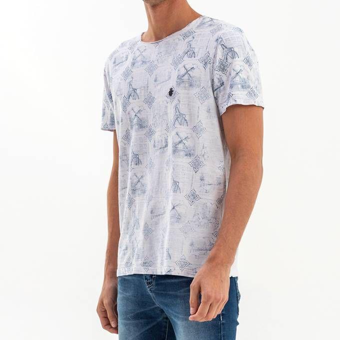 T-shirt Von Der Volken Wall - Branca