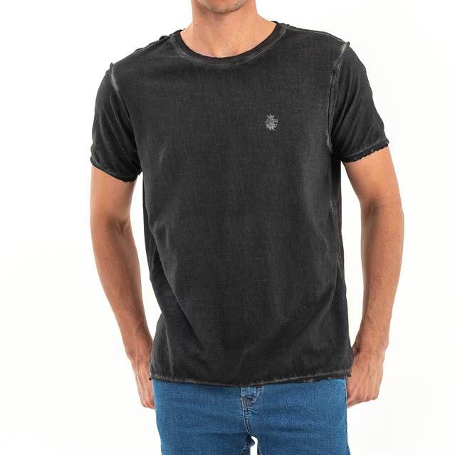 T-shirt Von Der Volke Dupla Face Tulipa - Preta