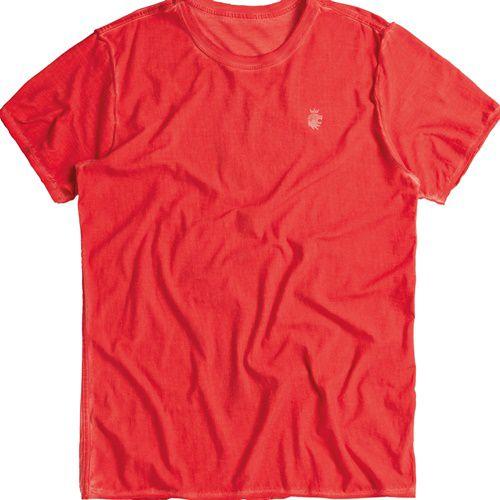 T-shirt Von Der Volke Dupla Face Tulipa - Vermelha
