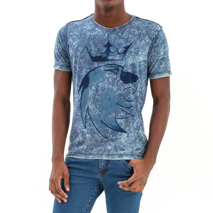 T-shirt Von Der Volke Dupla Face Wash - Azul