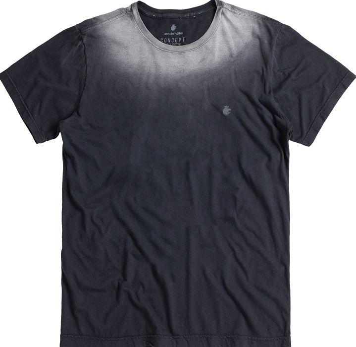 T-shirt Von Der Volke Efeito Degradê - Preta