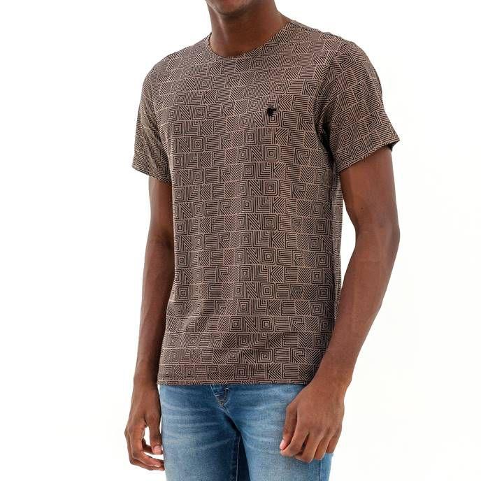 T-shirt Von Der Volke Estampa Padronagem - Preta