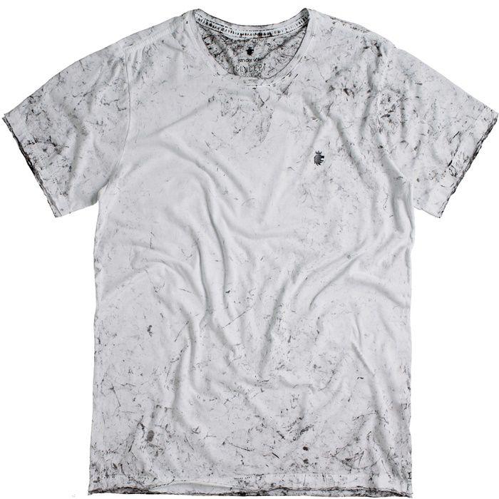 T-shirt Von Der Volke Gezicht - Branca
