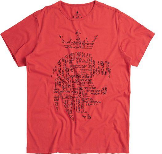 T-shirt Von Der Volke Leão Name - Vermelha