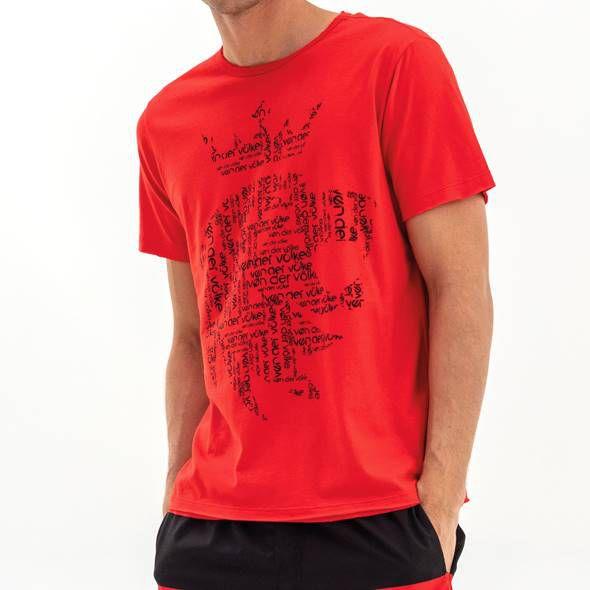 T-shirt  Von Der Volke Leão FIT - Vermelha
