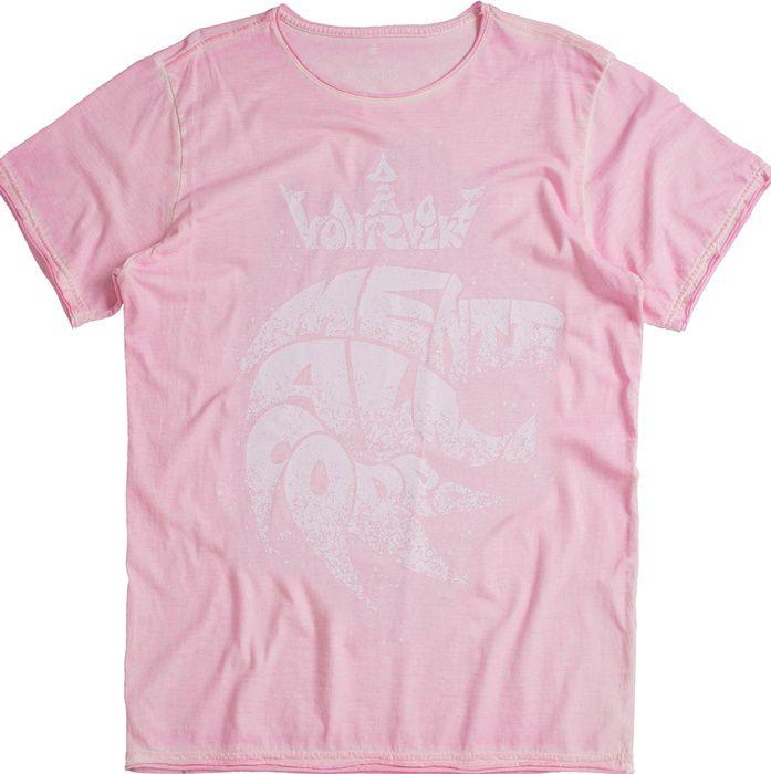 T-shirt Von Der Volke Mente Alma e Corpo - Rosa