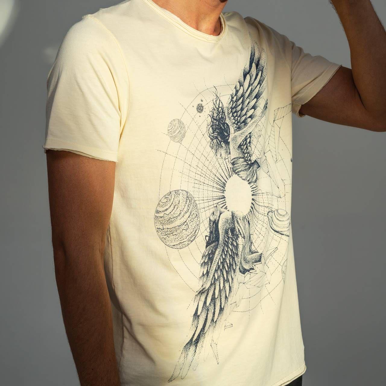 T-shirt Von Der Volke Signo Gêmeos - Amarela