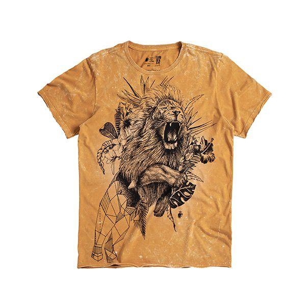 T-shirt Von Der Volke Signo Leão Mostarda