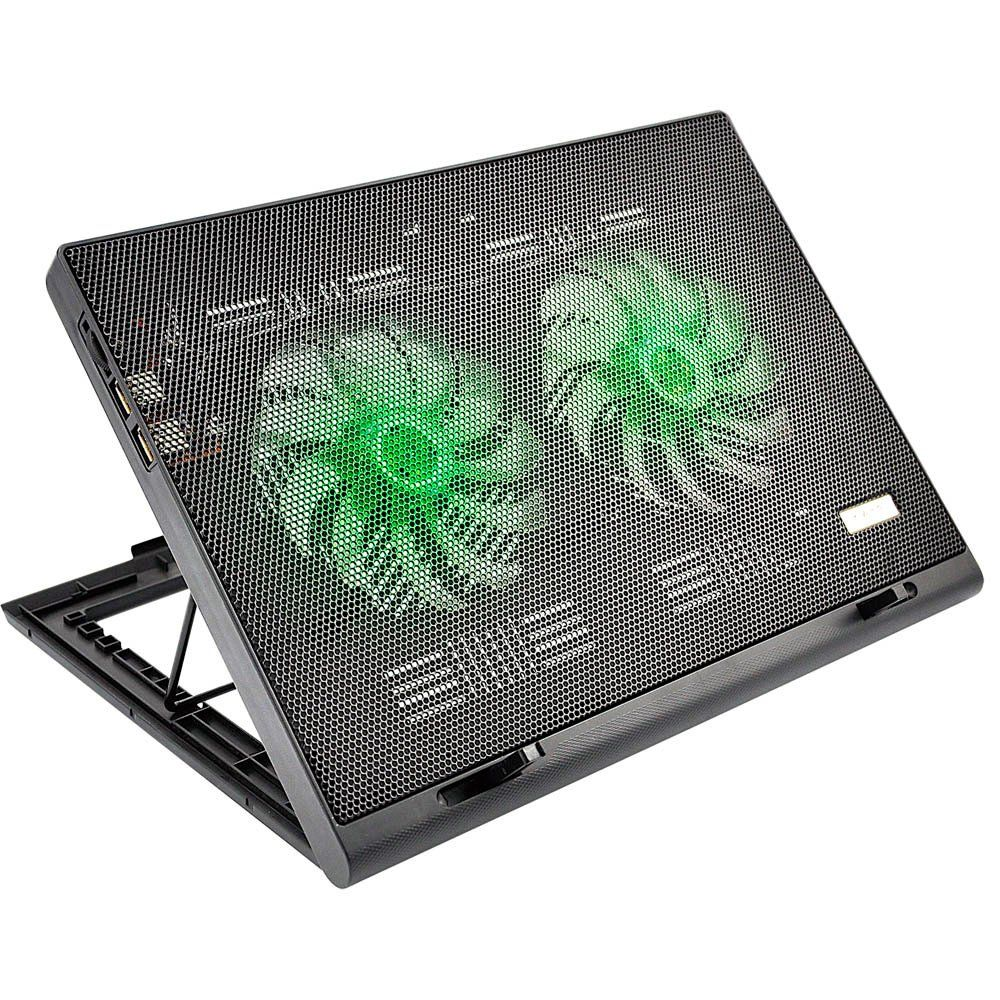 "Base Gamer Multilaser Warrior P/ Notebooks até 17"", C/ 2 Coolers - AC267"