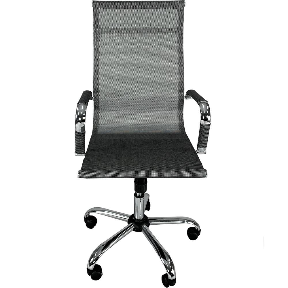 Cadeira Escritorio Mymax Diretor Giratoria Premium Prata - Tela Mesh