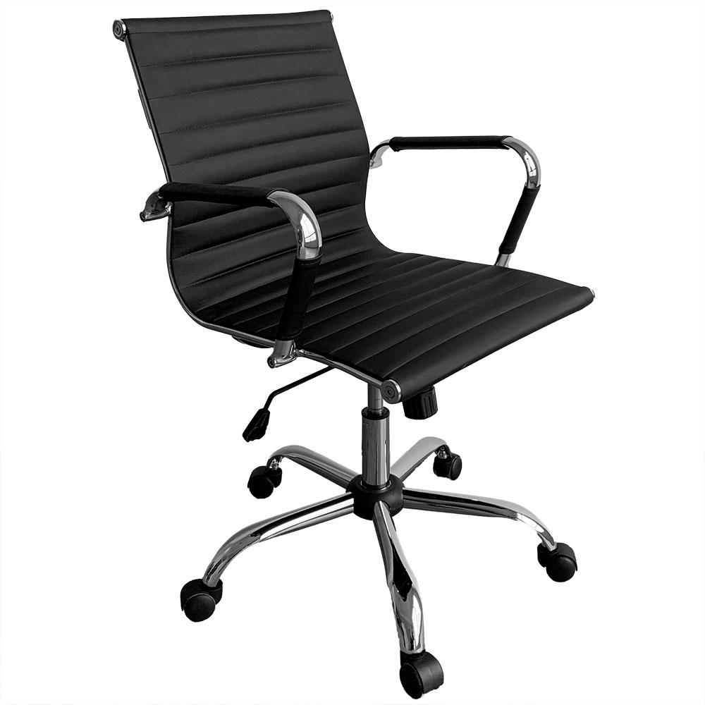 Cadeira Escritorio Executiva Giratoria Premium - Preta