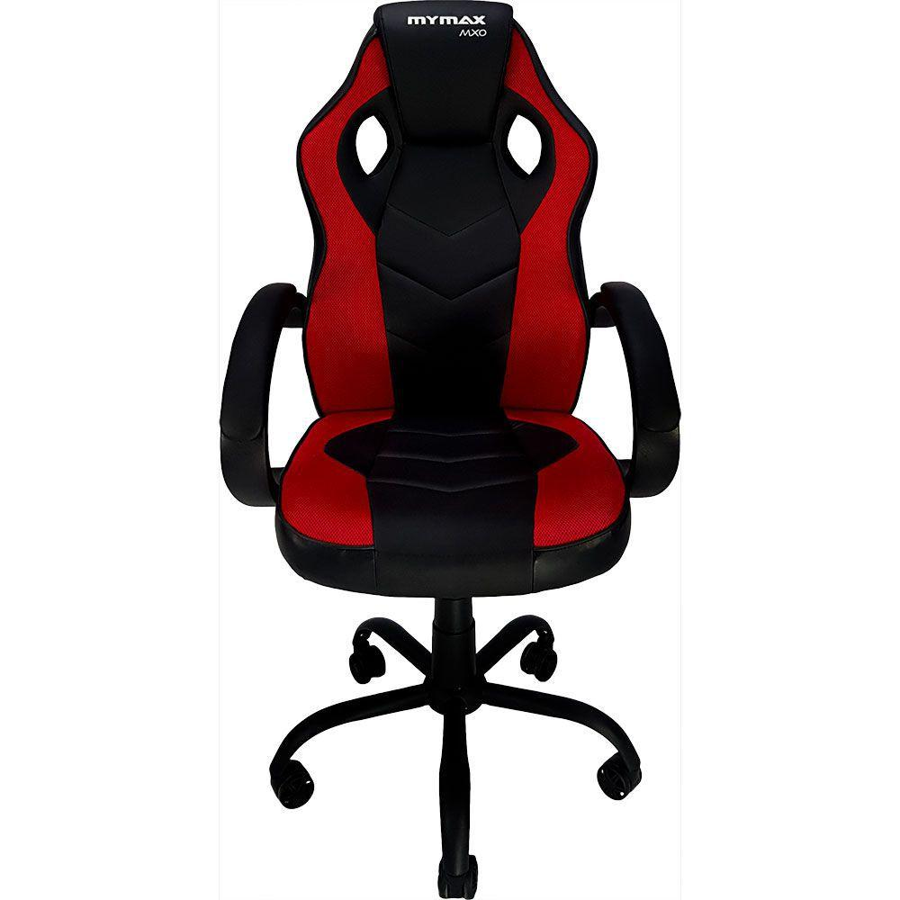Cadeira Gamer MX0 Giratória - Preto/Vermelho