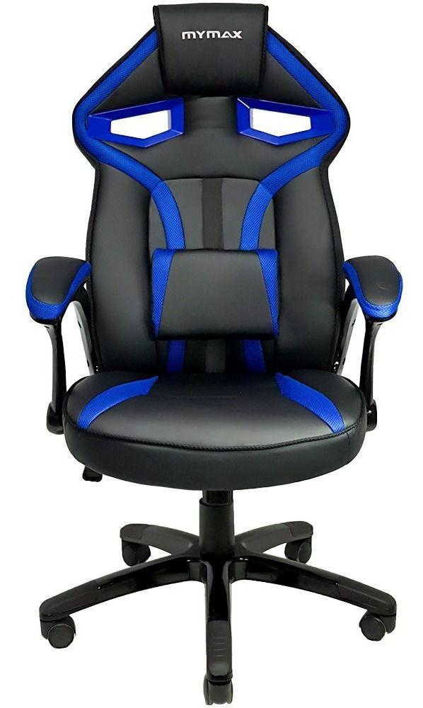 Cadeira Gamer Mx1 Giratória Preto/azul - Mymax