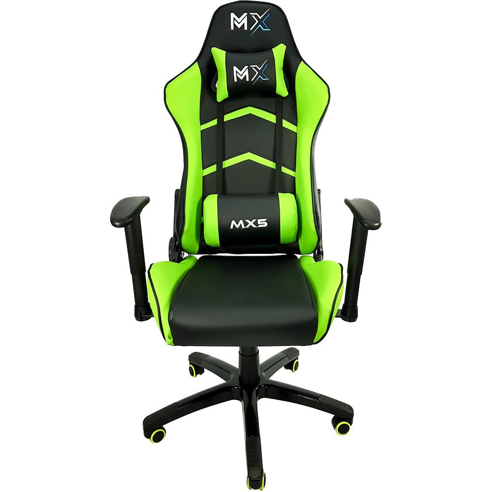 Cadeira Gamer MX5 Giratória Preto/Verde
