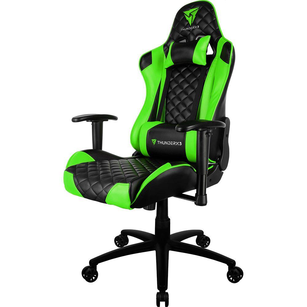 Cadeira Gamer THUNDERX3 TGC12 Preta/Verde