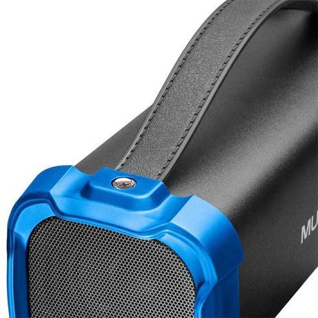 Caixa de Som Bazooka Multilaser SP350 Bluetooth Entrada para Pendrive USB Cartão Micro SD Rádio FM