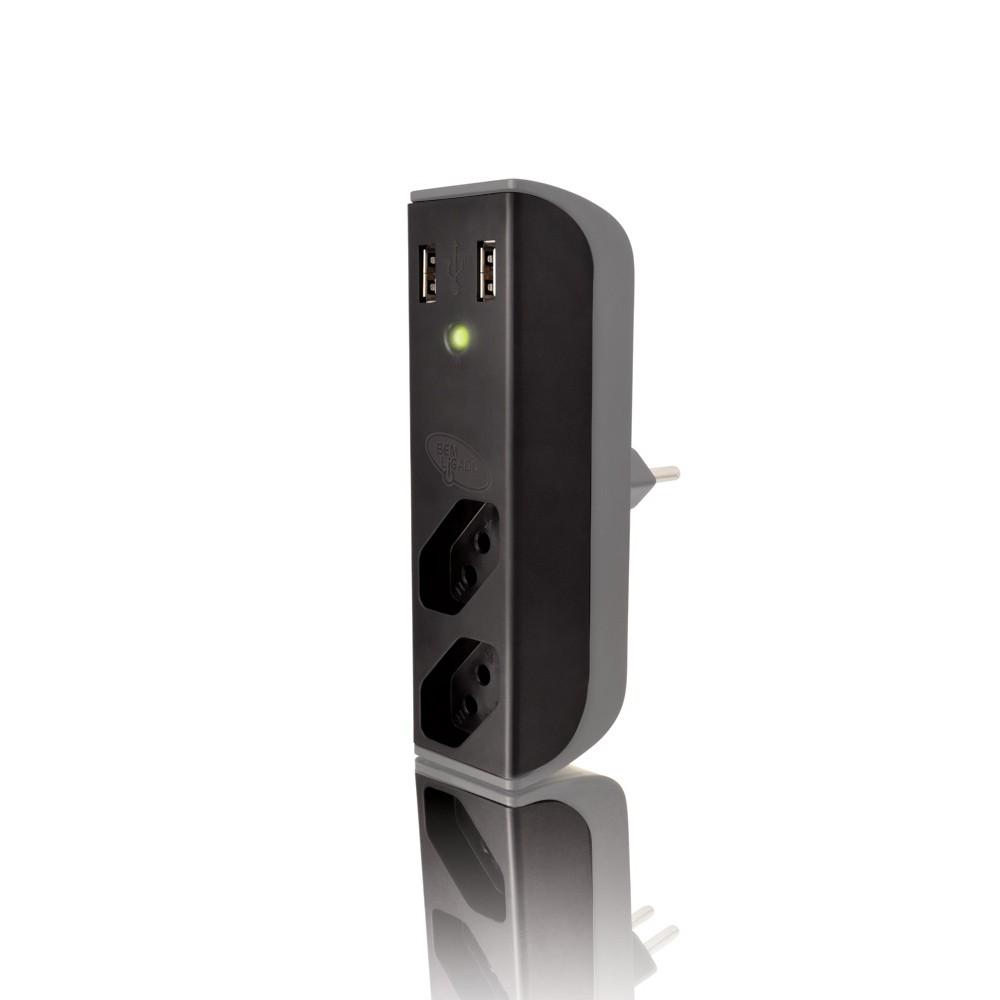 Carregador Coletek USB Filtro Bem Ligado - FL-USB21GBK