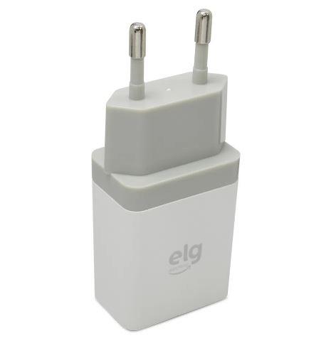 Carregador de Parede Universal ELG, 1 Saída USB 1A Bivolt - WC1AE