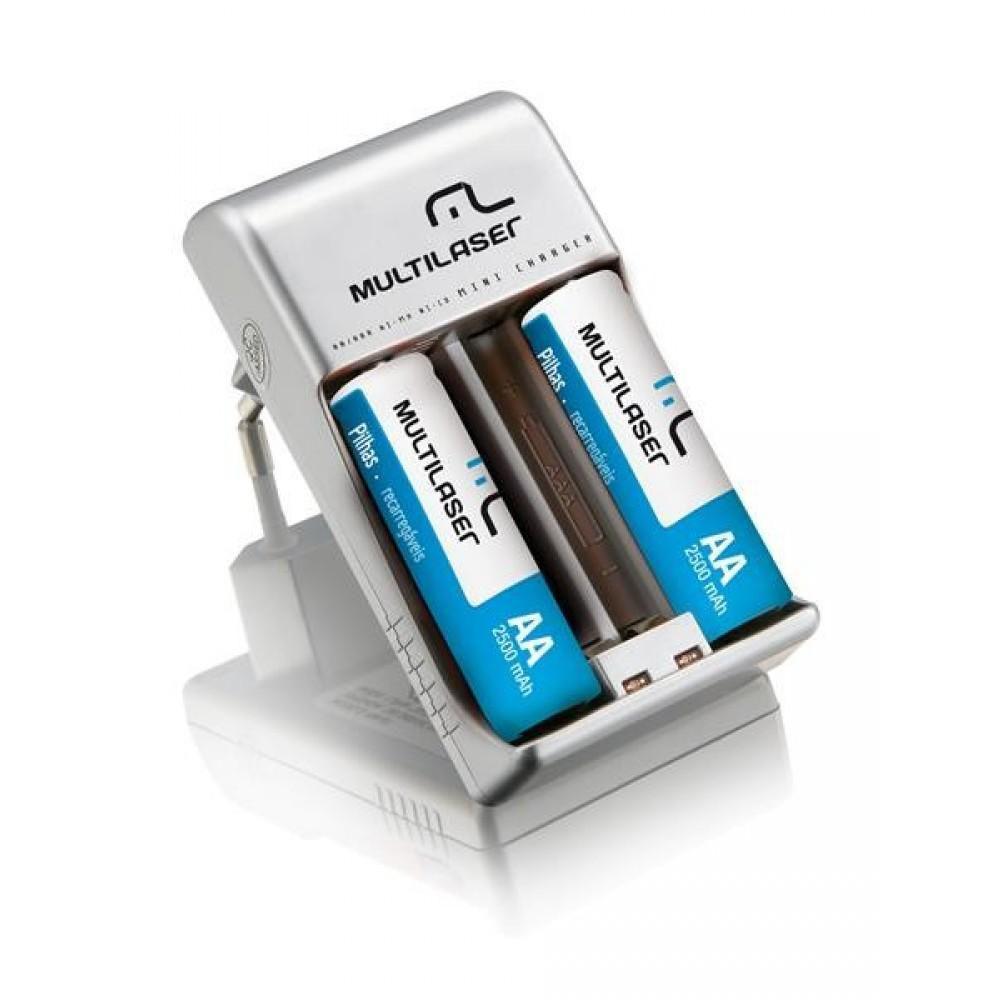 Carregador de Pilhas Multilaser AA/AAA 2x RM01 - CB048
