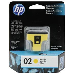 Cartucho de Tinta HP 02 Amarelo - C8773WL