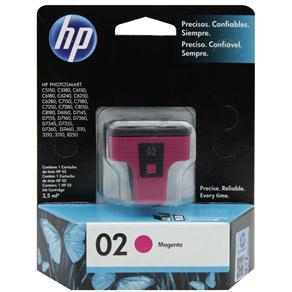Cartucho de Tinta HP 02 Magenta - C8772WL