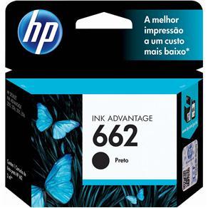 Cartucho de Tinta HP 662 Preto - CZ103AB