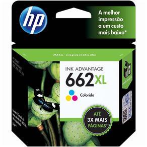 Cartucho de Tinta HP 662 XL Tricolor - CZ106AB