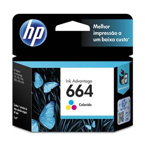 Cartucho de Tinta HP Ink Advantage 664 Tricolor - F6V28AB