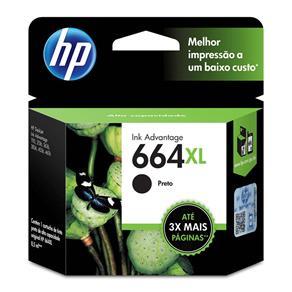 Cartucho de Tinta HP Ink Advantage 664XL Preto Alto Rendimento - F6V31AB