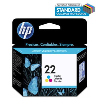 Cartucho HP 22 Colorido 6ML CX 1 UN - C9352AB