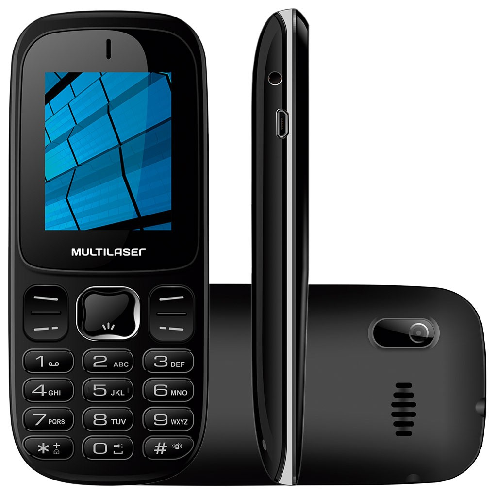 Celular Multilaser P9017 UP 3G com 2 Chips Bluetooth Mp3 3G - Preto