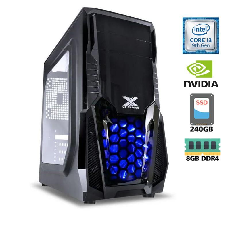 Computador Gamer Intel i3 9100F 3,6GHz - 6MB Cache, Memória RAM 8GB DDR4, SSD 240GB Kingston, VGA Geforce Nvidia GTX1050TI 4GB 128Bits, Placa Mãe Gigabyte H310, Fonte 500WT Reais, Gabinete Gamer
