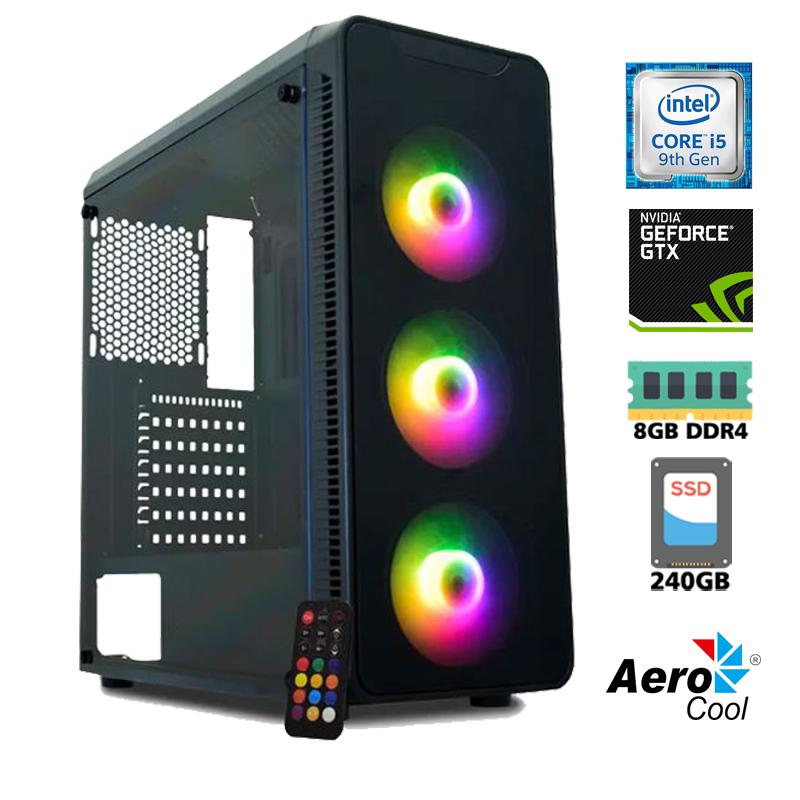 Computador Gamer Intel i5 9400F 2,6GHz - 9MB Cache - LGA 1151, Memória RAM 8GB DDR4 , SSD 240GB Kingston, VGA NVIDIA Geforce GTX1050TI 4GB, Placa Mãe Asus Prime H310, Fonte 500W Reais