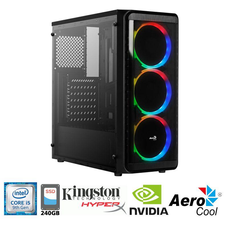 Computador Gamer Intel i5 9400F 2,6GHz - 9MB Cache - LGA 1151 - 9ª Geração, Memória RAM 8GB DDR4 Kingston, SSD 240GB Sandisk, VGA Nvidia GeForce GTX 1660 6GB 192Bit, Placa Mãe Gigabyte H310, Fonte 500