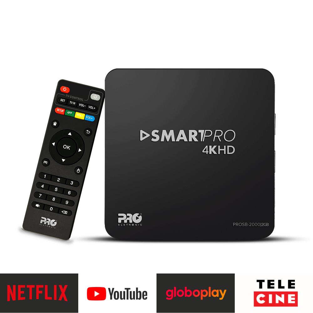 Conversor SmartTv Pro 4K HD 2GB 8GB PROSB 2000 Proeletronic + Controle - Pro Eletronic