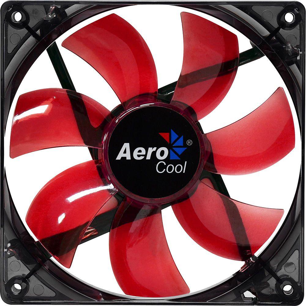 Cooler Aerocool RED LED Fan 12mm Vermelho - EN51394