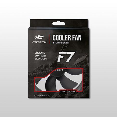 Cooler C3Tech Storm 120MM - F7-100BK Preto