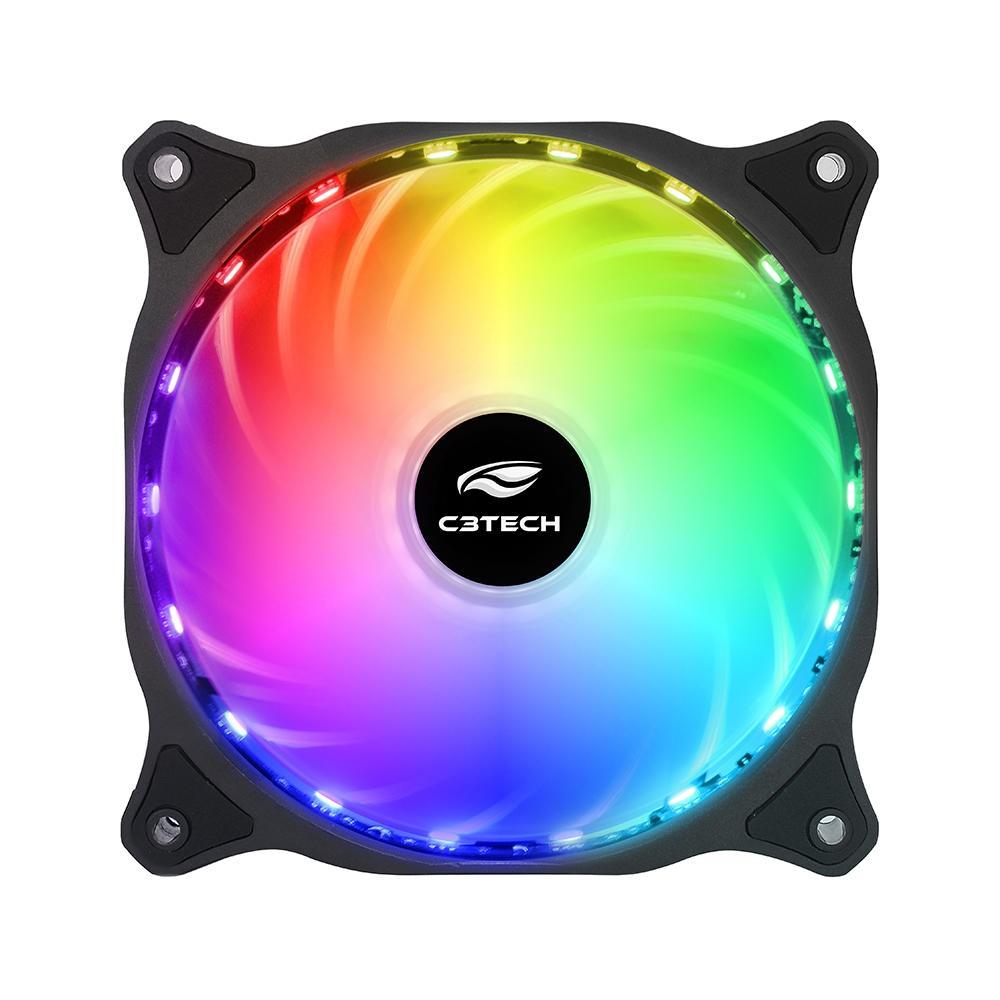 Cooler Fan C3Tech Storm 12MM com Led RGB - F9-L150RGB