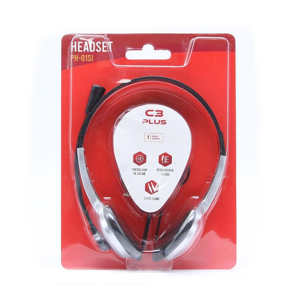Fone Com Microfone PH-01SI Prata C3Plus