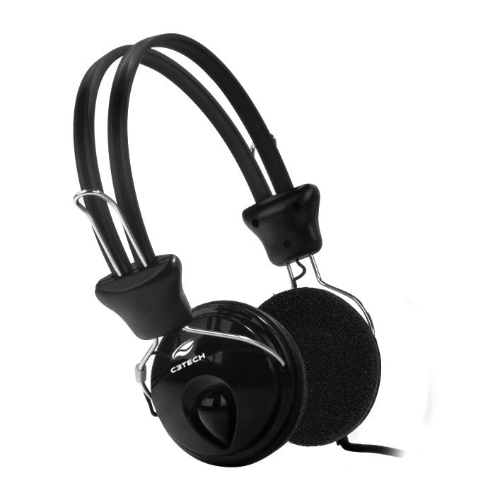 Fone De Ouvido C3Tech Com Microfone Tricerix - PH-80BK