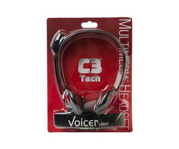 Fone de Ouvido C/ Microfone Headset C3 Tech Voicer, Preto - CT662040BK