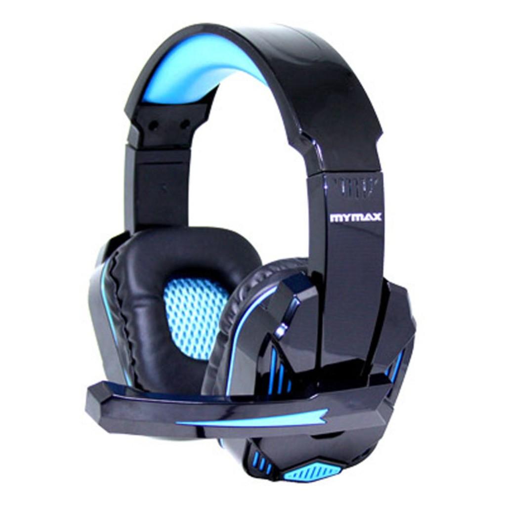 Fone de Ouvido C/ Microfone Headset Gamer Mymax Ultimate Preto/Azul - MHP-SP-X9/BKBL