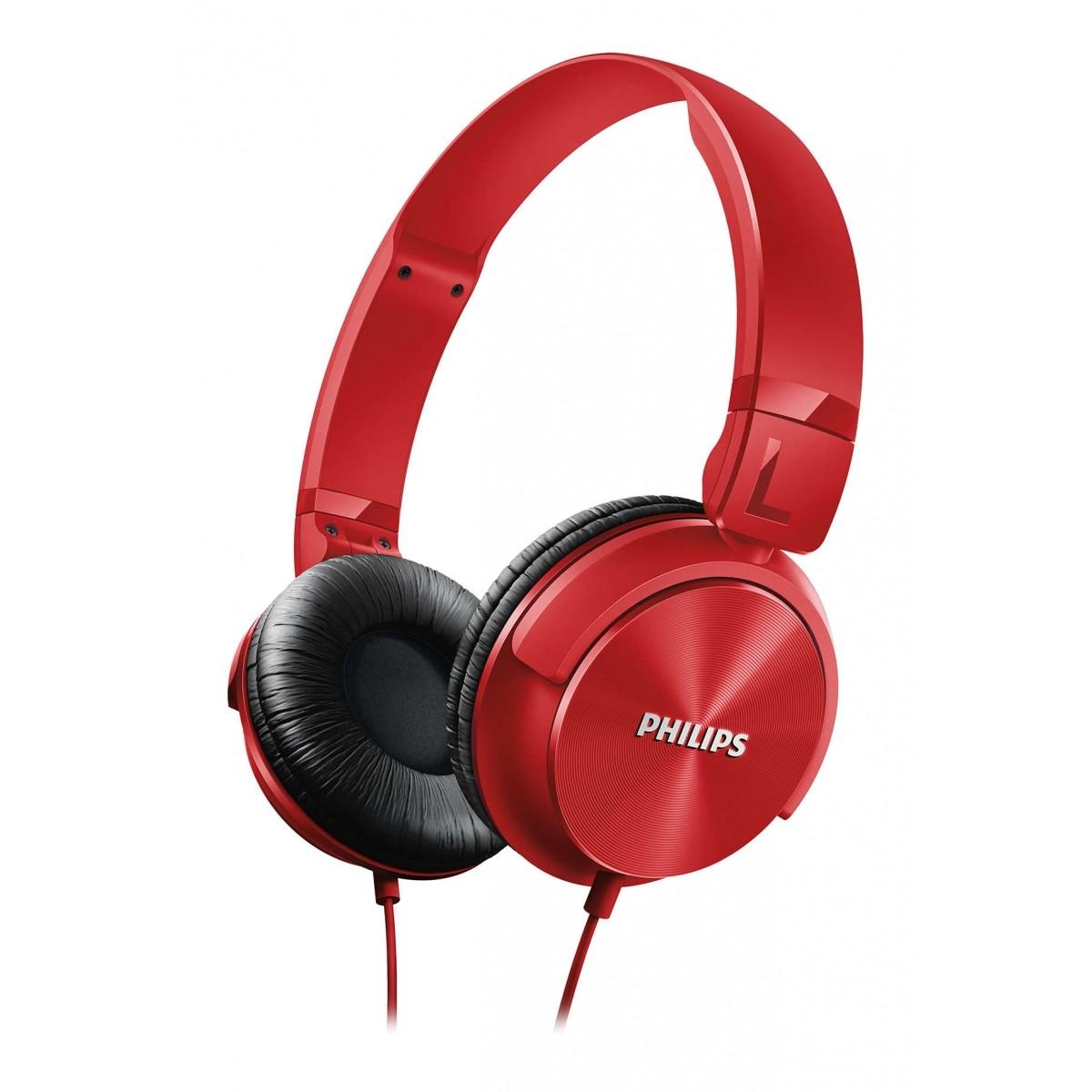 Fone de Ouvido Headphone Philips Headband DJ Vermelho - SHL3060RD